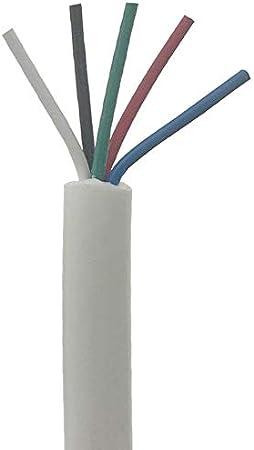 Soldador de hierro Línea de manija de soldadura de alambre de silicona suave de 5 núcleo blanco para T12 936 937 907 9501 2028 Para cualquier entusiasta del hobby (Color : 5M)
