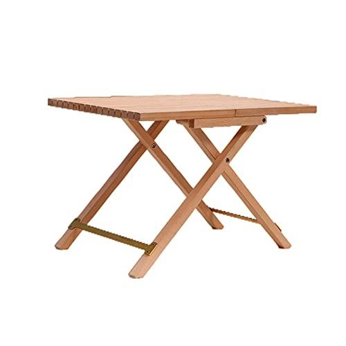 TYM Outdoor Buchen-Klapptisch, Couchtisch, faltender quadratischer Seite Bistro-Tisch, kann 30 kg tragen, geeignet für Gartenmöbel für Terrasse Gartenbalkon