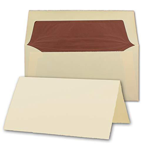 Zerkall-Bütten - Tarjetas Plegables (Formato DIN Largo, Papel verjurado, 100 x 210 mm, 240 g/m²)