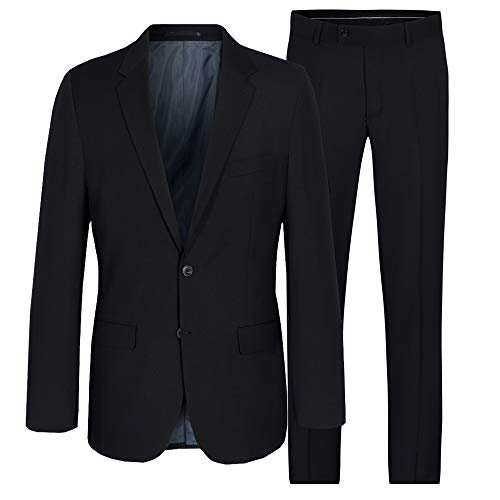 jacket herren slim fit regular fit modern fit baukasten club stretch blazer anzug sportlich casual business freizeit arbeit hochzeit festlich schwarz elegant stoff smoking party komunion bräutigam
