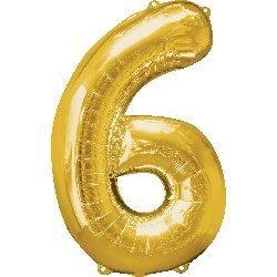 Jinju 40 cm oro palloncino foil numeri 2 Air fill