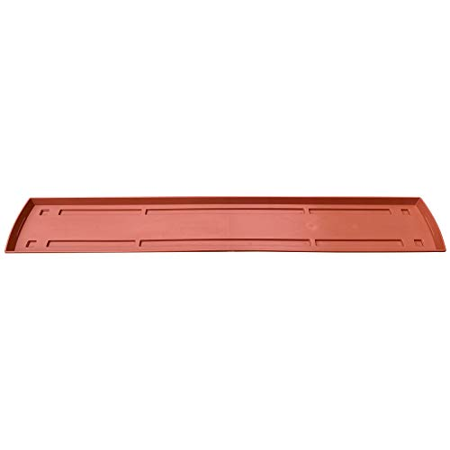 1 Untersetzer für Blumenkasten Balkonkasten Pflanzkasten Terracotta 100cm