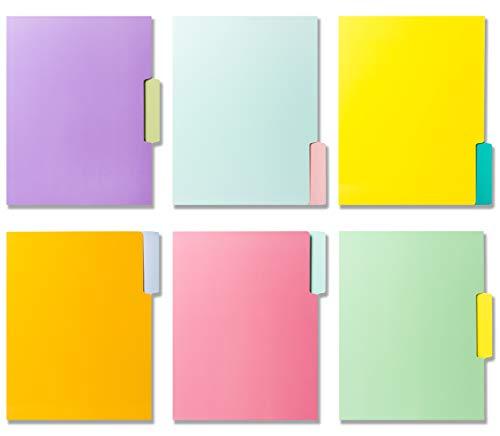 12 Cute File Folders -Floral File Folders & Colored File Folders in Vibrant Colors -Decorative File Folders -Pretty File Folders- 300 gsm Thick, Letter Size File Folders - 9.5 x 11.5 inch (Pack of 12) Photo #2