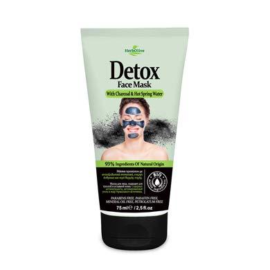 HerbOlive Gezicht Masker Detox *Houtskool & Warm Bronwater* 75ml