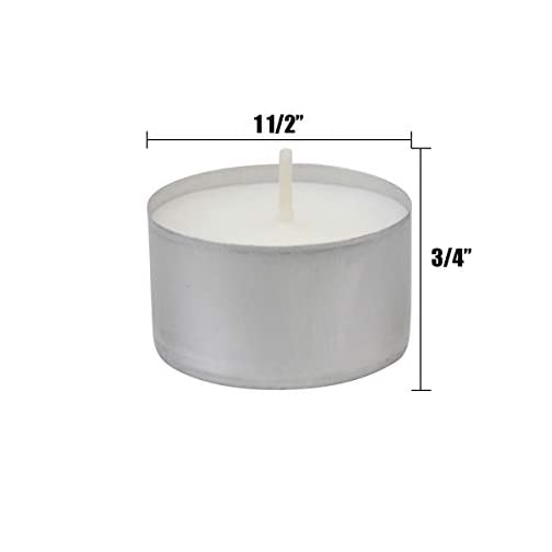 Stonebriar Long Burning 6-7 Hour Unscented Tea Light Candles, White, Bulk 100 Pack, 100 Count 4