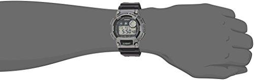 Casio watches Casio Men's 'Super Illuminator' Quartz Resin Casual Watch, Color:Black