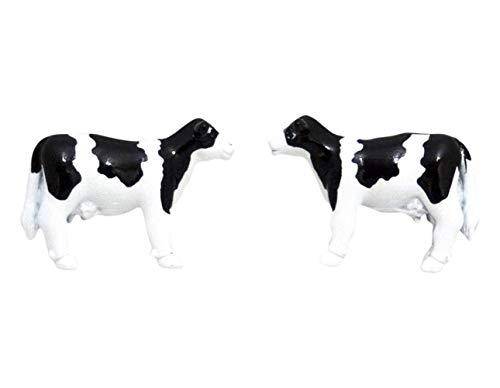 Zennor Black/White Cow boutons de manchette de