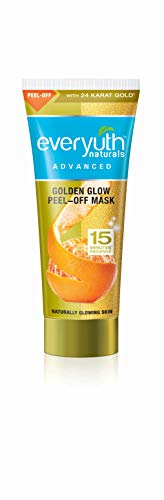 Everyuth with 24 Karat Gold Golden Glow Peel-Off Mask 50gm by Everyuth