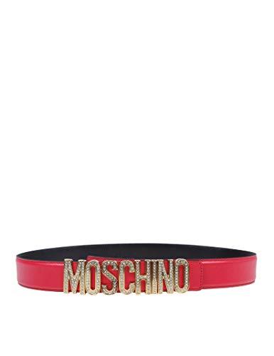 Luxury Fashion | Moschino Dames A804680060215 Rood Leer Riemen | Herfst-winter 19