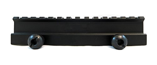 """Monstrum High Profile Picatinny Riser Mount (1"""" H x 5.7"""" L), for Scopes and Optics"""