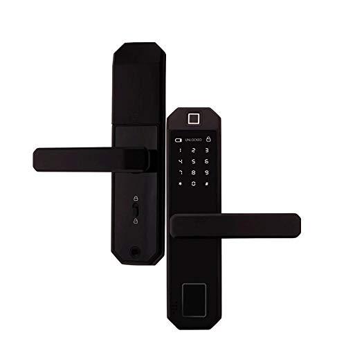 MxZas duurzame vingerafdruk wachtwoord Swipe Key Vrijschakelen spraakondersteuning Navigatie Single Double Lock Body voor Smart Home-grendel