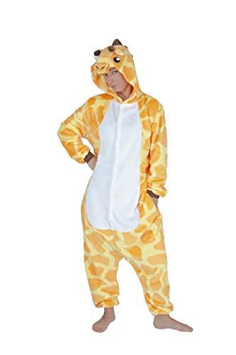 Generique - Giraffen-Kostüm Tier-Overall für Erwachsene gelb-Weiss