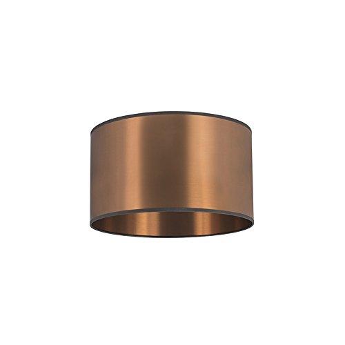 QAZQA Moderne Polyestère Abat jour 35/35/20 cuivre, Rond/Cylindrique Abat-jour Suspendu,Abat-jour Lampadaire