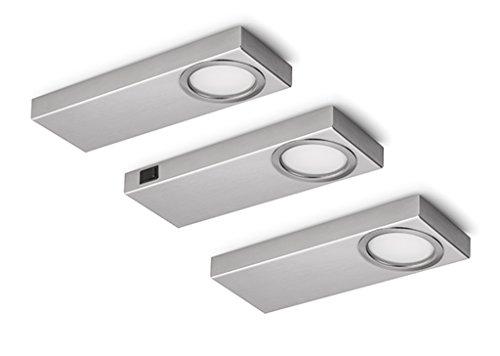 NABER Rea 1 LED Set 3 S avec interrupteur / éclairage sous caisson / A++ / 2 W / blanc neutre