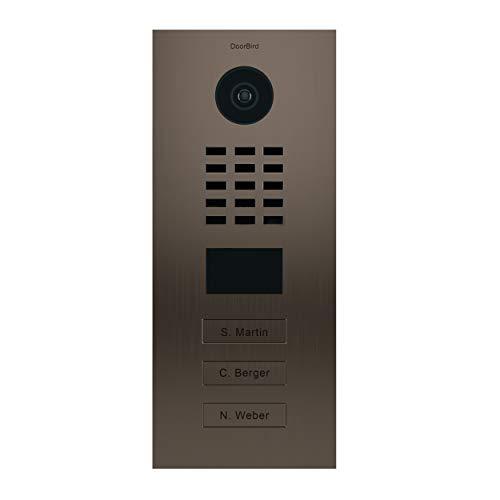 Doorbird D2103BV - Portero de vídeo IP con 3 timbres, color bronce