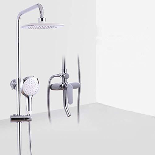 IREANJ Conjuntos de bañera de cobre fino ducha conjunto de tres velocidades de elevación ducha superior ducha ducha ducha fija ducha ducha ducha ducha
