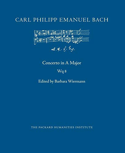 Concerto in A Major, Wq 8 (CPEB:CW Offprints, Band 87)