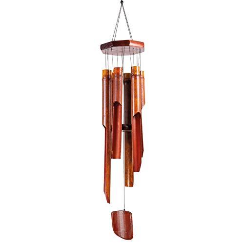 CIM Klangspiel - Bambus XL - Windspiel Gesamtlänge: 103cm - Gesamtdurchmesser: 15cm - inkl. S-Haken Aufhängung - wetterfest