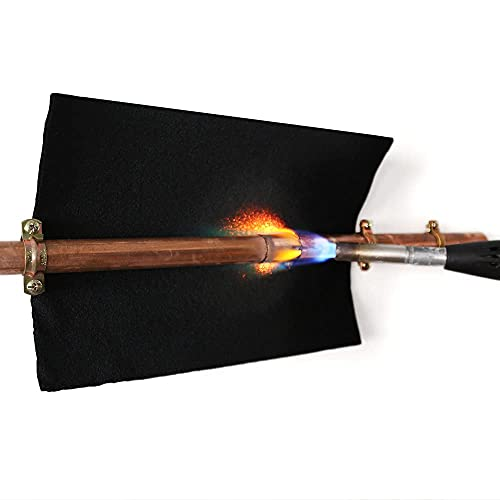 TEXFIRE - Manta ignífuga soldadura con soplete tubos de cobre. Pack 3 unidades 30x20 cm, fontanería, aire acondicionado, instalador.