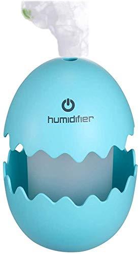 Hohe Qualität Mini Ultraschall-Luftbefeuchter mit kühlem Nebel USB 7-Farben-LED-Leuchten mit verstellbarem Mist Modus Quiet for Schlafzimmer, Babyzimmer und Auto, (Color : Blue)