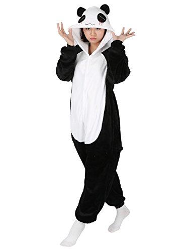Très Chic Mailanda Unisex Erwachsene Schlafanzug Karneval Tier Cosplay Plüschtier Kapuzenkostüm(Panda)