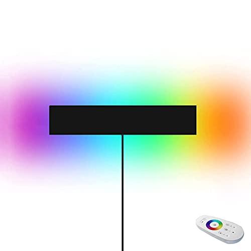 HMAKGG 20W LED Moderno Aplique De Pared Regulable RGB con Mando a Distancia, Cambio de Color, Lámpara De Pared Dormitorio Con Cable para Salón, Dormitorio,Comedor
