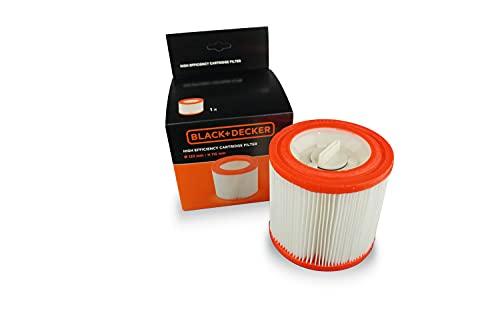 Black+Decker Filtro Cartuccia ad Alta Efficienza per Aspiratori Solidi e Liquidi