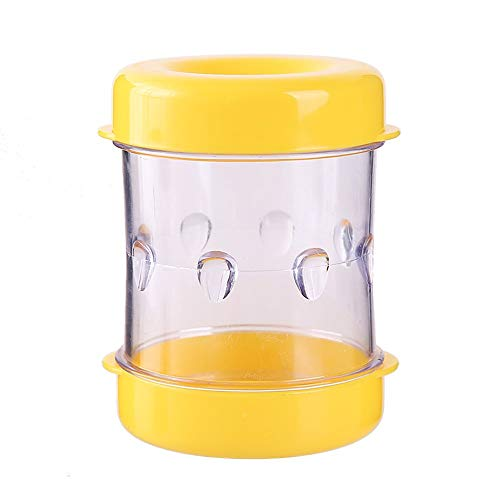 J Hand-Held Boiled Egg Peeler, With Groove Design, Transparent and Visible, Suitable for Eggs, Quail Eggs, for Household Kitchens, Restaurants, Yellow