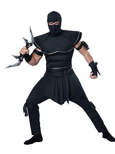 California Costumes Men's Stealth Ninja Costume, Black, Large