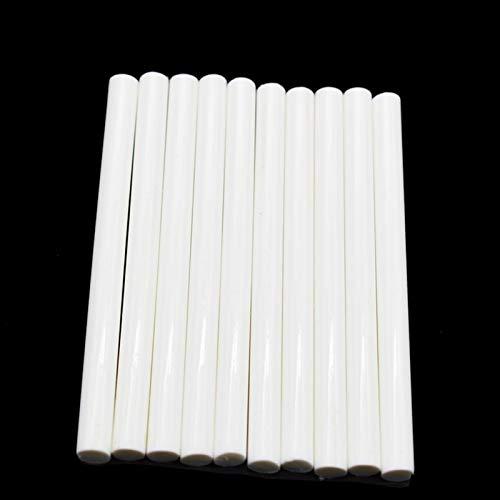 FMN-DJU, 50 Stück 7 x 100 mm Heißklebe-Sticks für 7 mm elektrische Kleberpistole Basteln DIY Handreparatur Weiß Kleber Siegelwachs Stick