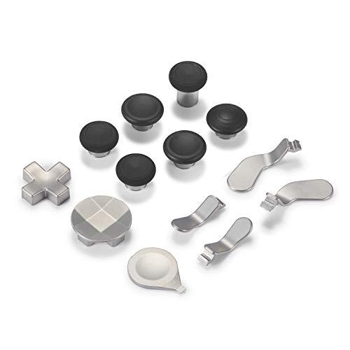 Supremery Xbox One Elite Wireless Controller Series 2 Sticks Buttons Paddles Knöpfe Zubehör Ersatzteile aus Aluminium - 12 Teiliges Set Silber