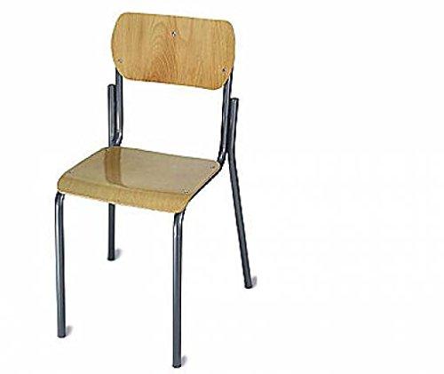 Sedia scolastica in metallo e legno mod. petite ecole