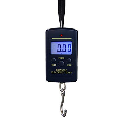 KEKEYANG 40kg x 10 g Mini báscula de Equipaje Digital para la Pesca de la Pesca Ponderación de la Cocina Steelyard Cangero electrónico Gancho Escala de Herramientas de Peso Digital