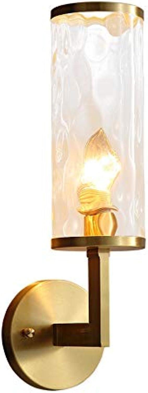 Yaione Wandleuchte mit Steckschnur für Kinder Rustikale Wandleuchten Dekorative Nachttisch Wandleuchte Schatten für Schlafzimmer Wohnzimmer Esszimmer Küche Gold Glas