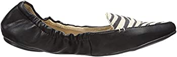 Butterfly Twists Women s Amber Pointed Toe Flat Black/White 40 EU/9-40 M US