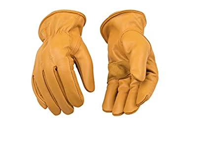 KINCO 198HK Men's Lined Premium Grade Grain Cowhide Leather Gloves, Heat Keep Thermal Lining