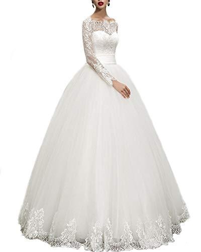 WeddingDazzle Wedding Dresses Ball Gown Sweetheart Wedding Gown Wedding Bridal for Women's US 4 Ivory
