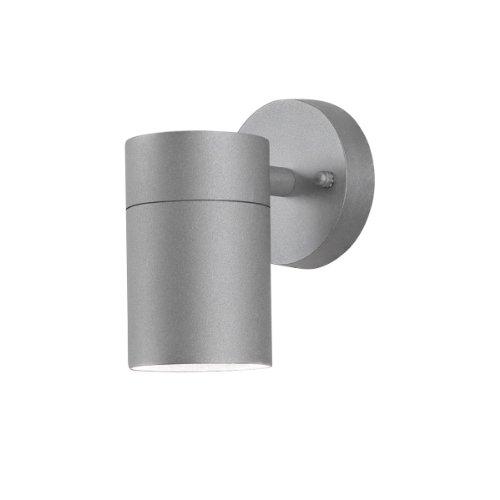 Konstsmide Modena 7657-300 Wandleuchte Wandspot B: 7,5cm T: 13cm H: 12cm / 1x35W / IP44 / lackiertes Aluminium / grau