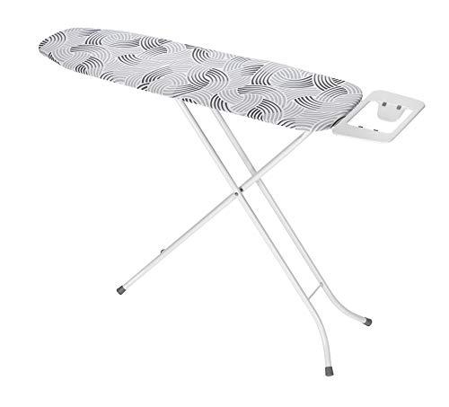 Wenko Bügeltisch Base Bügelbrett, mehrfach höhenverstellbar, Metall, Weiß, 110 x 30 cm - 2