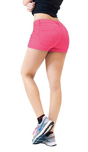 Hybrid & Company Womens Butt Lifting Twill Denim Shorts SH43308X Pink 18