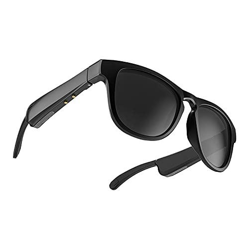 GSYNXYYA Gafas Bluetooth De Conducción Ósea, 110Mah * 2 Gafas Polarizadas para Llamadas, Gafas Deportivas Inteligentes De Audio Direccional (Carga Magnética)