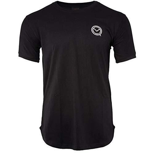 MOQ boxing Camiseta de manga corta negra para entrenamiento de gimnasio, cómoda...