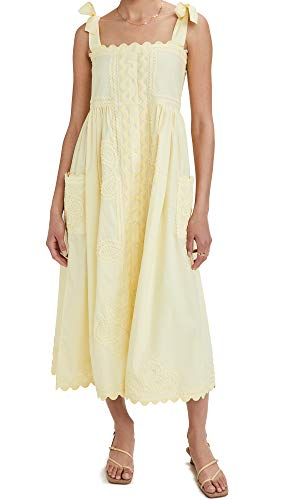 Juliet Dunn Women's Tie Shoulder Dress, Lemon, Yellow, 3
