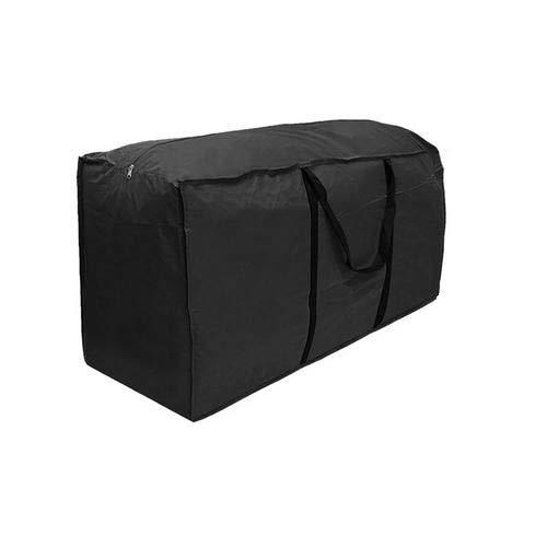 Bolsa de almacenamiento acolchada, impermeable para jardín, con asa, resistente a los rayos UV, apta para cojines de respaldo alto, protege cojines y cojines de la humedad y la suciedad. large -