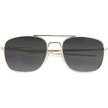 CampCo Humvee HMV-52B-GOLDPolarized Bayonette Style Military Sunglasses with Gray Lenses and Gold Frame 52mm