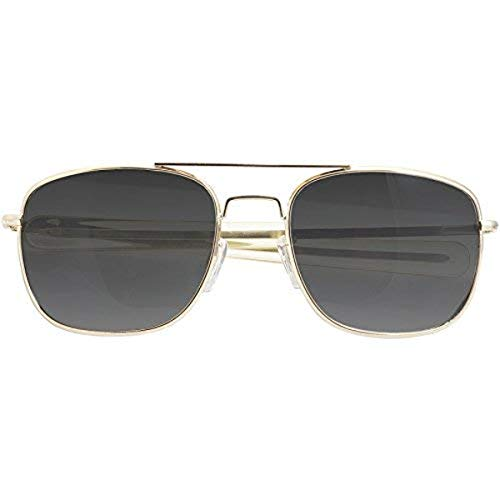 CampCo Humvee HMV-52B-GOLDPolarized Bayonette Style Military Sunglasses with Gray Lenses and Gold Frame, 52mm
