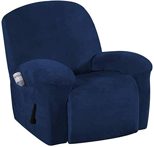 WLVG Funda de sofá sin tirantes de felpa de terciopelo para sofá reclinable, antideslizante, elegante protector de muebles lavable a máquina (G)