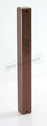 "Bronze plated Mezuzah Mezuza Case 12cm / 4.7"" Judaica Jewish shaddi Aluminum Design by body-soul-n-spirit"