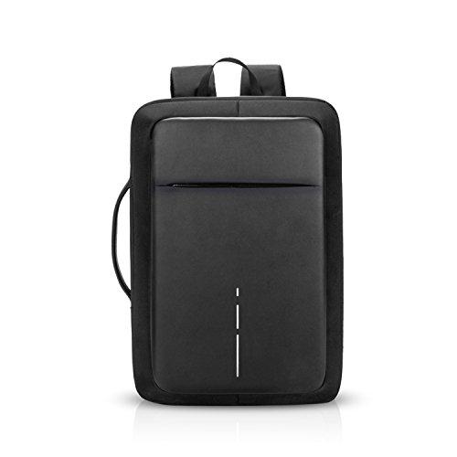 FANDARE 3 en 1 Mochila Hombres Business USB Laptop Bolsa de Mano Commuter Estudiante