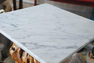 イタリアの大理石40cm×40cm×1.2cmひんやり気持ちいいペットマット(クールペットベッド)!ビアンコカララ表面磨き仕上げ
